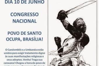 O Povo de Santo (Candomblé e Umbanda) vai ocupar o Congresso Nacional!