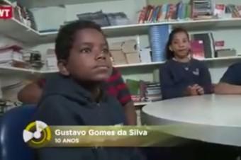 Aluno Gustavo, 10 anos, dá uma Aula de Cidadania contra o Racismo