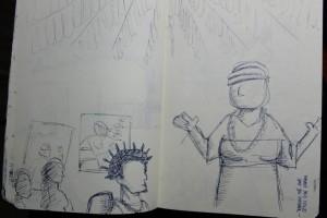 I Seminário do projeto PADÊ / UFRJ com o Terreiro Ilê Axé Omin Otá Odara, na Boa Vista. Out/2014 - Desenho do Livro dos Sonhos - livro 1