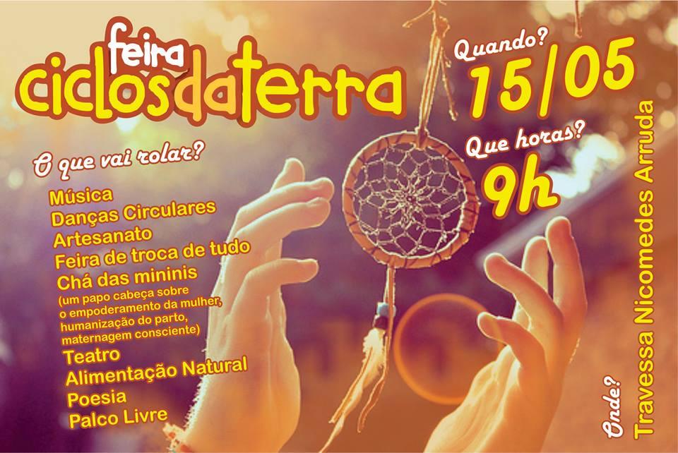 """Projeto """"Feira Ciclos da Terra"""", promovido pela Galeria Medieval no Corredor Cultural Nicomedes Arruda (Cachoeiras de Macacu RJ)."""