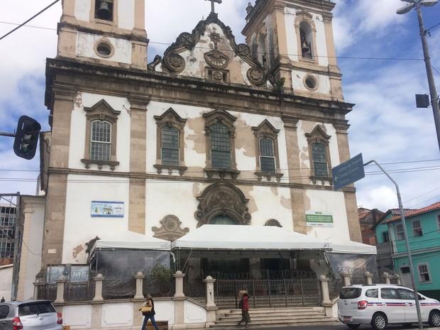 Igreja de Sant'Ana, em Salvador (Foto: Henrique Mendes / G1)